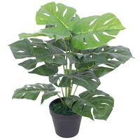 vidaXL kunstig monstera-plante med potte 45 cm grøn