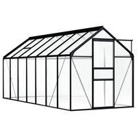 vidaXL drivhus 8,17 m² aluminium antracitgrå