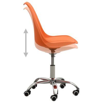 vidaXL spisebordsstole 2 stk. kunstlæder orange