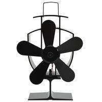 vidaXL varmedrevet ventilator med 5 blade sort