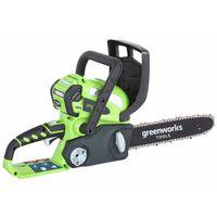 Greenworks motorsavsæt med 40 V 2 A- batteri G40CS30 30 cm 20117UA