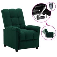 vidaXL elektrisk lænestol stof mørkegrøn
