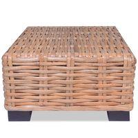 vidaXL sofabord i naturrattan 45 x 45 x 30 cm