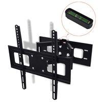 """vidaXL dobbeltarmet drejeligt vipbart TV-ophæng til væggen 3D 400 x 400 mm 32"""" - 55"""""""
