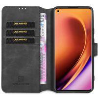 Dg-ming Wallet Cover 3-kort Oneplus 8 Pro (in2020)-sort