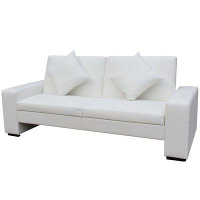 vidaXL sovesofa kunstlæder hvid