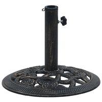 vidaXL parasolfod 9 kg 40 cm støbejern sort og bronze
