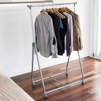 Storage solutions tøjstativ 4 hjul metal