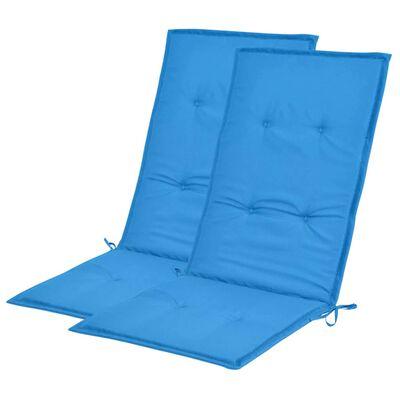 vidaXL hynde til havestol 2 stk. blå 120 x 50 x 3 cm