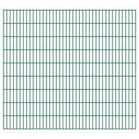 vidaXL havehegnspaneler 2D 2,008x1,83 m 20 m (total længde) grøn