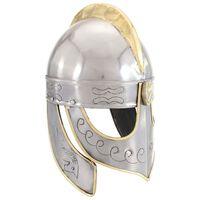 vidaXL beowulfhjelm til rollespil antik stål sølvfarvet