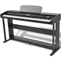 vidaXL digitalt piano med pedaler 88 tangenter sort melaminbræt