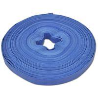 """vidaXL flad slange 50 m 1"""" PVC til transport af vand"""