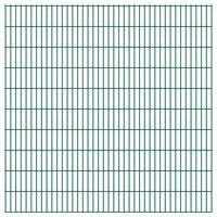 vidaXL havehegnspaneler 2D 2,008x2,03 m 4 m (total længde) grøn