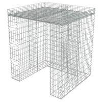 vidaXL gabionvæg til affaldsspand 110x100x130 cm galvaniseret stål