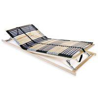 vidaXL lamelbund til seng med 42 lameller 7 zoner 70 x 200 cm