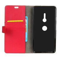 Wallet 2-kort til Sony Xperia XZ2 (H8266)-rød