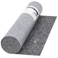 vidaXL skridsikker maleruld 50 m 280 g/m² grå