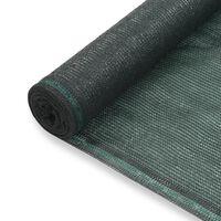 vidaXL tennisskærm HDPE 1 x 50 m grøn