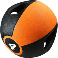 Pure2Improve medicinbold med håndtag 4 kg orange