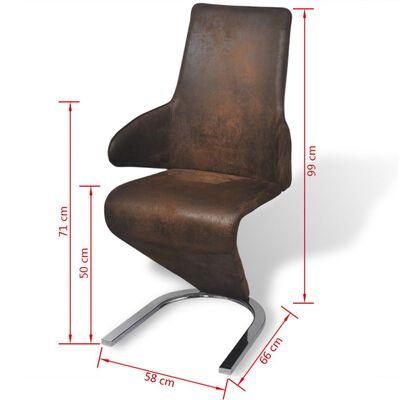 vidaXL spisebordsstole 4 stk. stof brun