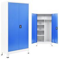 vidaXL metalskab med 2 låger 90 x 40 x 180 cm grå og blå