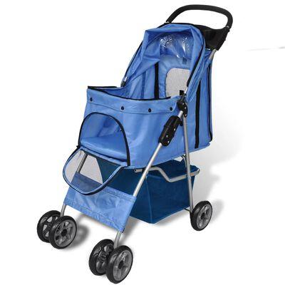 vidaXL hundeklapvogn blå