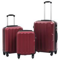 vidaXL hardcase-kuffertsæt 3 stk. ABS rødvinsfarvet