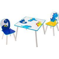 Worlds Apart bord- og stolesæt 3 dele dinosaurprint
