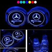 2X Mercedes logo Blyplade til krusholdere