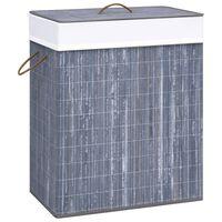 vidaXL vasketøjskurv 83 l bambus grå