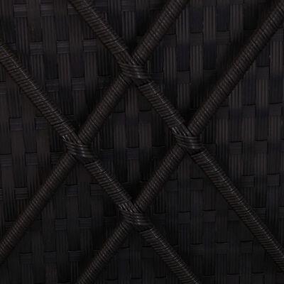 vidaXL liggestole med tebord 3 dele polyrattan sort