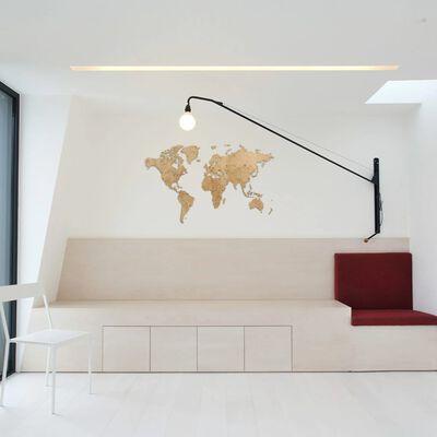 MiMi Innovations verdenkort i træ Exclusive 130 x 78 cm egetræ