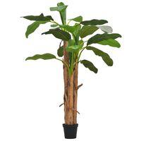 vidaXL kunstig bananplante med krukke 250 cm grøn