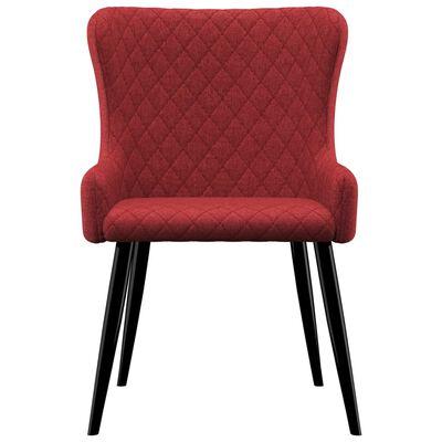 vidaXL spisebordsstole 2 stk. stof bordeauxfarvet