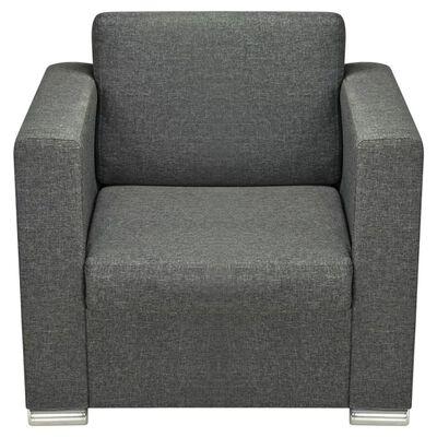 vidaXL sofasæt i tre dele stof mørkegrå