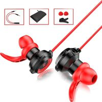 Høretelefoner i øret med aftagelig mikrofon - Sort / rød