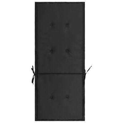 vidaXL hynder til havestol 2 stk. 120x50x7 cm sort