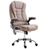 vidaXL kontorstol gråbrun polyester