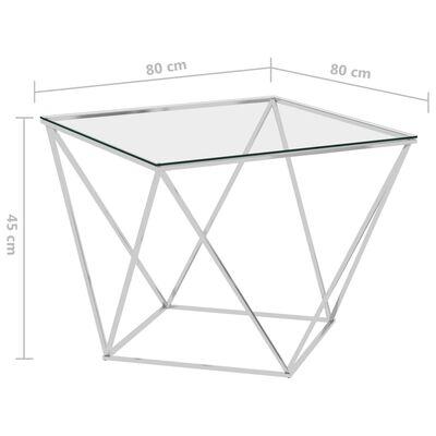 vidaXL sofabord 80x80x45 cm rustfrit stål sølvfarvet