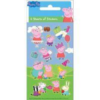 Gurli Gris / Peppa Pig klistermærker - Party