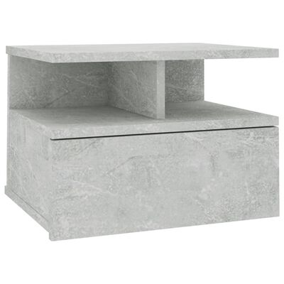 vidaXL svævende natbord 40 x 31 x 27 cm spånplade betongrå, Concretegrey