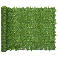 vidaXL altanafskærmning 500x150 cm grønne blade