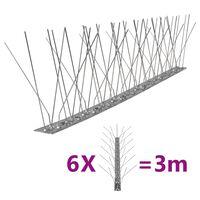 vidaXL fuglepigge 5 rækker sæt af 6 stk. 3 m