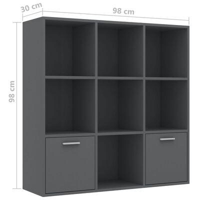 vidaXL bogreol 98x30x98 cm spånplade grå