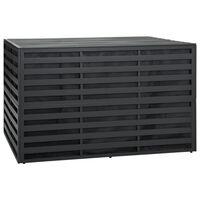 vidaXL opbevaringskasse til haven 150x100x100 cm aluminium antracitgrå