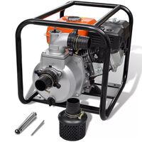 vidaXL vandpumpe benzinmotor 50 mm tilslutning 6,5 hk
