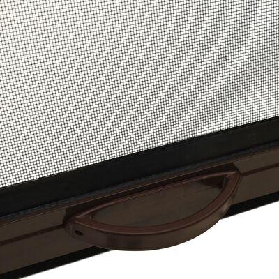 vidaXL nedrulleligt insektnet til vinduer 130x170 cm brun