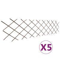 vidaXL pilehegn med espalier 5 stk. 180 x 60 cm