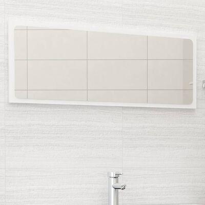 vidaXL badeværelsesspejl 100x1,5x37 cm spånplade hvid højglans